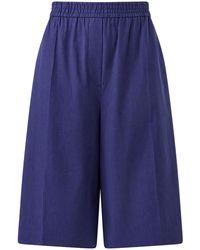 JOSEPH Stretch Linen Cotton Tan Shorts - Blue