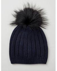 JOSEPH Cashmere Luxe Pompon Hat - Blue