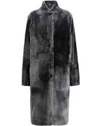 JOSEPH Peau lainée Brittanny en Polar Skin - Noir