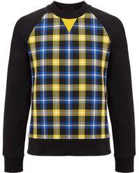Joseph | Jersey + Check Sweatshirt | Lyst