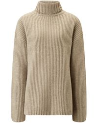 JOSEPH High Neck Cashmere Luxe Knit - Natural