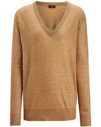 cf38a5a1897b Lyst - Joseph Cashair High Neck Oversized Sweater in Black