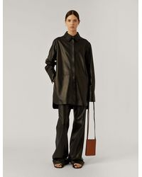 JOSEPH Jason Nappa Leather Outer - Black