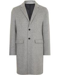 JOSEPH Armand Feather Double Cashmere Coat - Gray