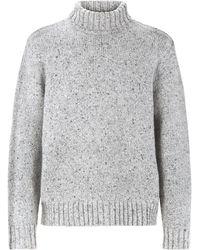 JOSEPH - Pull col roulé en tweed luxe - Lyst