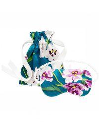Olivia Von Halle Floral Silk Eye Mask - Multicolour
