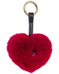 Yves Salomon - Fur Heart Keyring - Lyst