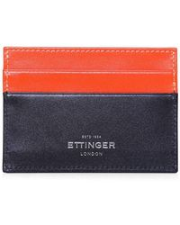 Ettinger - Calf Leather Sterling Flat Card Case - Lyst
