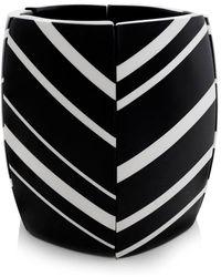 Monies - Striped Ebony Bracelet - Lyst