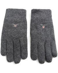 GANT - Lambswool Gloves - Lyst