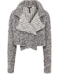 Sarah Pacini - Wool Asymmetric Cropped Cardigan - Lyst