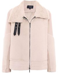 Armani - Faux Shearling Buckle Jacket - Lyst
