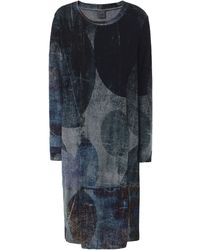 Crea Concept - Abstract Print Jersey Midi Dress - Lyst