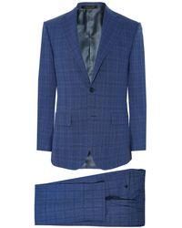 Corneliani - Virgin Wool Prince Of Wales Check Suit - Lyst