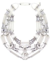 Butterfly - Glacier Crystal Statement Necklace - Lyst