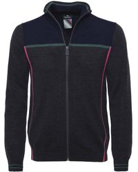 PS by Paul Smith - Merino Wool Zip-through Cardigan - Lyst