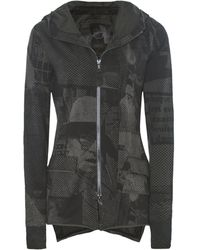 Rundholz - Anthra Print Hooded Jersey Jacket - Lyst