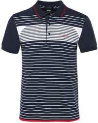 BOSS - Regular Fit Striped Paddy 5 Polo Shirt - Lyst