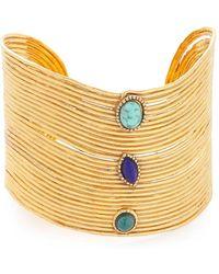 Gas Bijoux | Wave Cabochon Cuff Bracelet | Lyst
