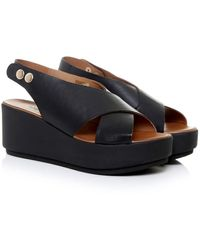 Inuovo - Sling Back Wedge Sandals - Lyst