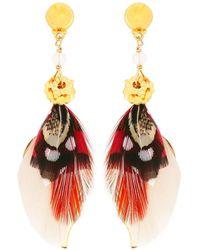 Gas Bijoux - Sao Feather Drop Earrings - Lyst