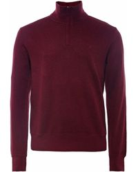 GANT - Cotton Sacker Rib Half-zip Sweatshirt - Lyst