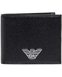 Armani - Branded Tumbled Wallet - Lyst
