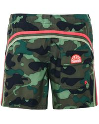 Sundek - Mid-length Camouflage Board Shorts - Lyst