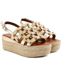 Inuovo - Studded Cage Sandals - Lyst