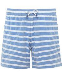 Hackett | Stretch Fit Barre Stripe Volley Swim Shorts | Lyst