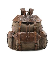 Campomaggi - Coated Canvas Embellished Backpack - Lyst