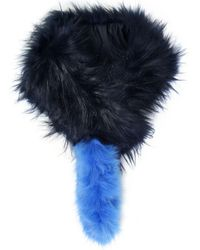 Charlotte Simone - Popsicle Raccoon And Fox-fur Scarf - Lyst