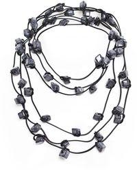 Jianhui - Three Strand Ceramic Bead Necklace - Lyst