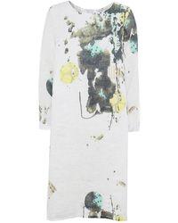Grizas - Linen Splash Print Dress - Lyst