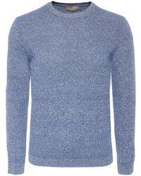 Hackett | Textured Linen & Silk Blend Jumper | Lyst
