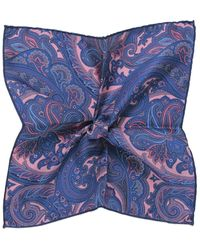 Jules B - Paisley Silk Pocket Square - Lyst