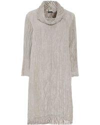 Grizas - Linen Detachable Collar Dress - Lyst