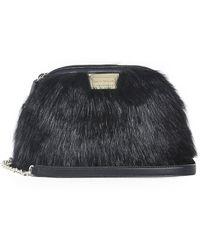 2b8102199bcd Boohoo Kara Fluffy Faux Fur Cross Body Bag in Pink - Lyst