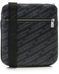 Armani - Small Logo Print Messenger Bag - Lyst