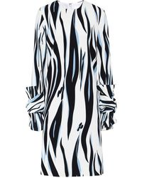 Victoria, Victoria Beckham - Printed Twist Sleeve Shift Dress - Lyst