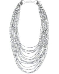 Butterfly   Silver Mount Bead Necklace   Lyst