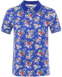 Altea - Pique Cotton Floral Smith Polo Shirt - Lyst