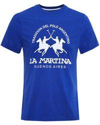 La Martina - Crew Neck Barret T-shirt - Lyst