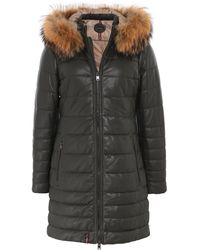 Oakwood - Mary Long Fur Trim Leather Jacket - Lyst
