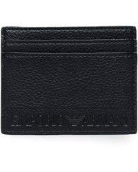 Armani - Tumbled Embossed Card Holder - Lyst