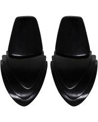 Monies - Clip On Ebony Block Earrings - Lyst