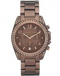 MICHAEL Michael Kors - Antique Effect Diamante Michael Kors Watch Mk5493 - Lyst