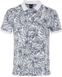 BOSS - Regular Fit Floral Parlay 23 Polo Shirt - Lyst