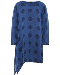 Grizas Linen Spotted Tunic - Blue