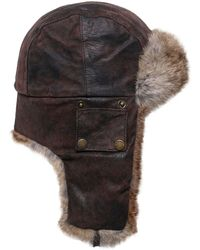 Stetson - Leather Aviator Hat - Lyst
